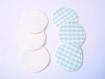 Coussinets d'allaitement lavables pour maman - protection imperméable pour montée de lait - écailles vert d'eau et blanc