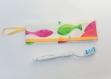 Etui pour brosse à dents et dentifrice - housse de rangement imperméable pour brosse à dents - poissons jaune