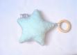 Doudou anneau de dentition etoile - hochet bébé avec clochette à l'intérieur - esprit montessori