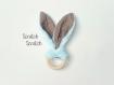 Hochet lapin oreille bruyante - anneau de dentition montessori pour bébé