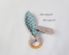 Hochet doudou lapin oreilles bruyantes  - anneau de dentition montessori pour bébé