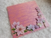 Carte pour anniversaire fleurs rose et violet