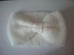 Headband blanc laine