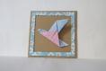 Cadre origami - colombe