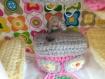 Réservé pour marie louise, caravane au crochet, valise jeu d'imitation, miniature pour petits jouets, granby square, beatnik, seventies, bohème chic, crochet