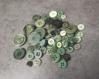 Lot de boutons verts pour créer
