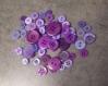 Lot de boutons violets pour créer
