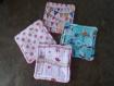 Lot de 5 lingettes carrées pour bébé ou maman