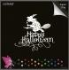 Lot découpes scrapbooking personnage femme sorcière, mot happy halloween, balai  découpe papier embellissement
