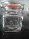 Cadeau pour les témoins/parrain/marraine - pot en verre avec fermeture en métal de 7.5 cm personnalisation offerte - gravure couple de mariés ou landeau
