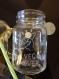 Mason jar de 450 ml avec anse et paille - gravure pour un baptême/anniversaire/autres occasions