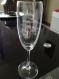 Cadeau de baptême - flûte à champagne de 21 cm - gravure