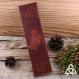 Marque page cuir fée celtique, triquetra entrelacs, marron brun noir, accessoire livre médiéval féerique, fée ailes papillon, cuir repoussé