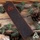 Marque-page cuir triquetra noeud celtique, médiéval gothique féerique, marron foncé brun, lecteur livre, mixte homme, païen wicca, repoussé