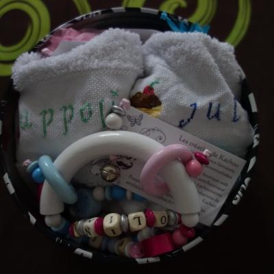 Kit cadeau de naissance - jumeaux