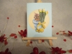 Carte 3d chaton aux tulipes jaune