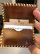 Porte carte bleu en cuir
