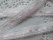 Ruban satin et dentelle 1,50 cm blanc et rose