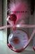 Contenant à dragée boule en plexi avec photo - rose fushia et rose clair