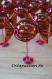 Contenant à dragée thème gourmandise bonbon en plexi - chocolat et rose fushia