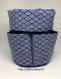 Trousse de toilette bleu impression japonais
