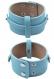 Bracelet en semi cuir ± 21x4cm, réglable en mesure ± 18-20cm (appropriées pour entre autres perles coulissantes)
