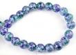 Perles de verre, circulaires, decorées ± 12mm (trou ± 2mm) (par 10pcs.)