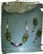 Lot breloques et connecteur en et perles de verre  et de métal