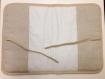 Protège carnet de santé a broder au point de croix tissu métis lin coton