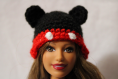 Lot de bonnets collection animaux pour poupée barbie