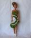 Robe type salsa vert au crochet pour poupée