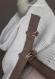 Col écharpe portefeuille hommes hiver blanc et taupe