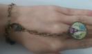 Bijoux tout en un bracelet et bague cabochon paris