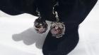 Boucles d'oreilles réalisées en perles en verre murano marron