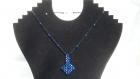 Ras de cou flèche réalisé en perles de swarovski bleues