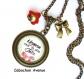 S.7.123 collier pendentif maman la plus jolie noeud rayures bijou fantaisie bronze cabochon verre cadeau maman cadeau fête des mères (série 2)