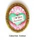 S.7.333 broche épingle i love you maman coeur arabesques bijou fantaisie bronze cabochon verre cadeau maman cadeau fête des mères