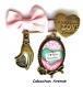 S.7.334 broche épingle love coeur i love you maman coeur arabesques bijou fantaisie bronze cabochon verre cadeau maman cadeau fête des mères