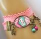 S.7.338 bracelet  i love you maman coeur arabesques bijou fantaisie bronze cabochon verre cadeau maman cadeau fête des mères