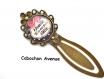 S.7.340 marque page maman ma belle etoile noeud bijou fantaisie bronze cabochon verre cadeau maman cadeau fête des mères (série 1)