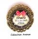 S.7.341 broche filigrane maman ma belle etoile noeud bijou fantaisie bronze cabochon verre cadeau maman cadeau fête des mères (série 1)