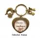 S.7.352 porte-clés coeur love maman besoin de tendresse bijou fantaisie bronze cabochon verre cadeau maman cadeau fête des mères