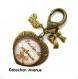 S.7.354 bijou de sac coeur love maman besoin de tendresse bijou fantaisie bronze cabochon verre cadeau maman cadeau fête des mères