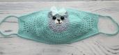 Masque protège au crochet fantasia amigurumi ( sur commande),pour femme,fille