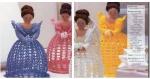 Amigurumi, modèles poupées princesses avec petites fleurs au crochet.pattern, tutoriels anglaise en format pdf