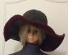 Chic et élégant chapeau au crochet de acrylique pour un dame t56-57 modèle unique