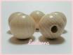 Perle en bois d'érable ciré résistantes à salive 30 mm spécial bébé