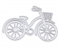 Die de découpe métallique forme vélo vintage retro idéal pour carte album page