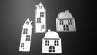 Die de découpe métallique forme petite maison de fée vintage retro idéal pour carte album carte scrap noel anniversaire cadeau