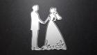 Die de découpe métallique forme marié mariage st valentin vintage retro idéal pour carte album carte scrap noel anniversaire cadeau